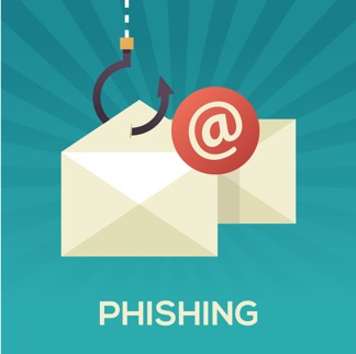 Email phishing attack graphic