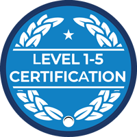 CMMC level 1-5 certification badge